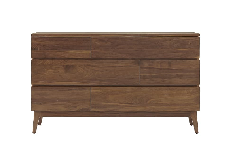 Serra Walnut 6 Drawer Dresser