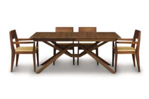 Exeter Dining Ext Table With 2 Easystow Leaves