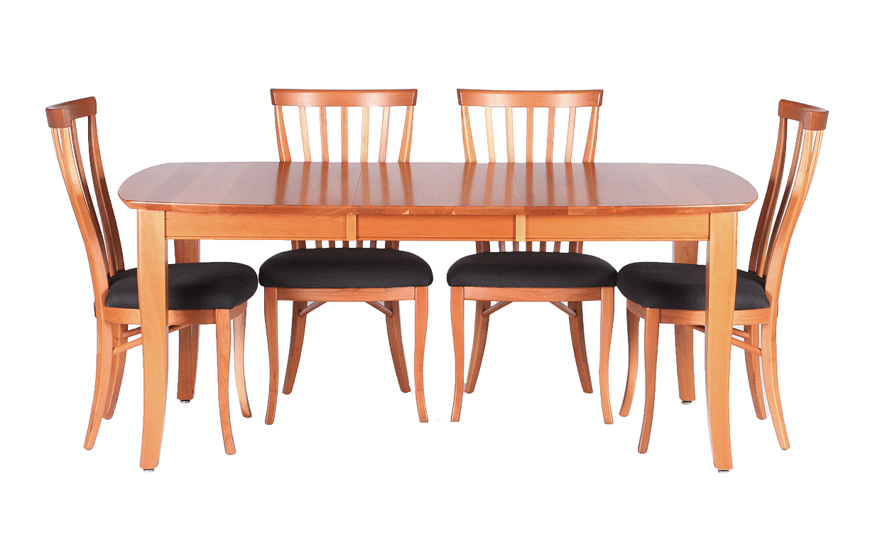 Casual Cherry Ext Table With Chairs