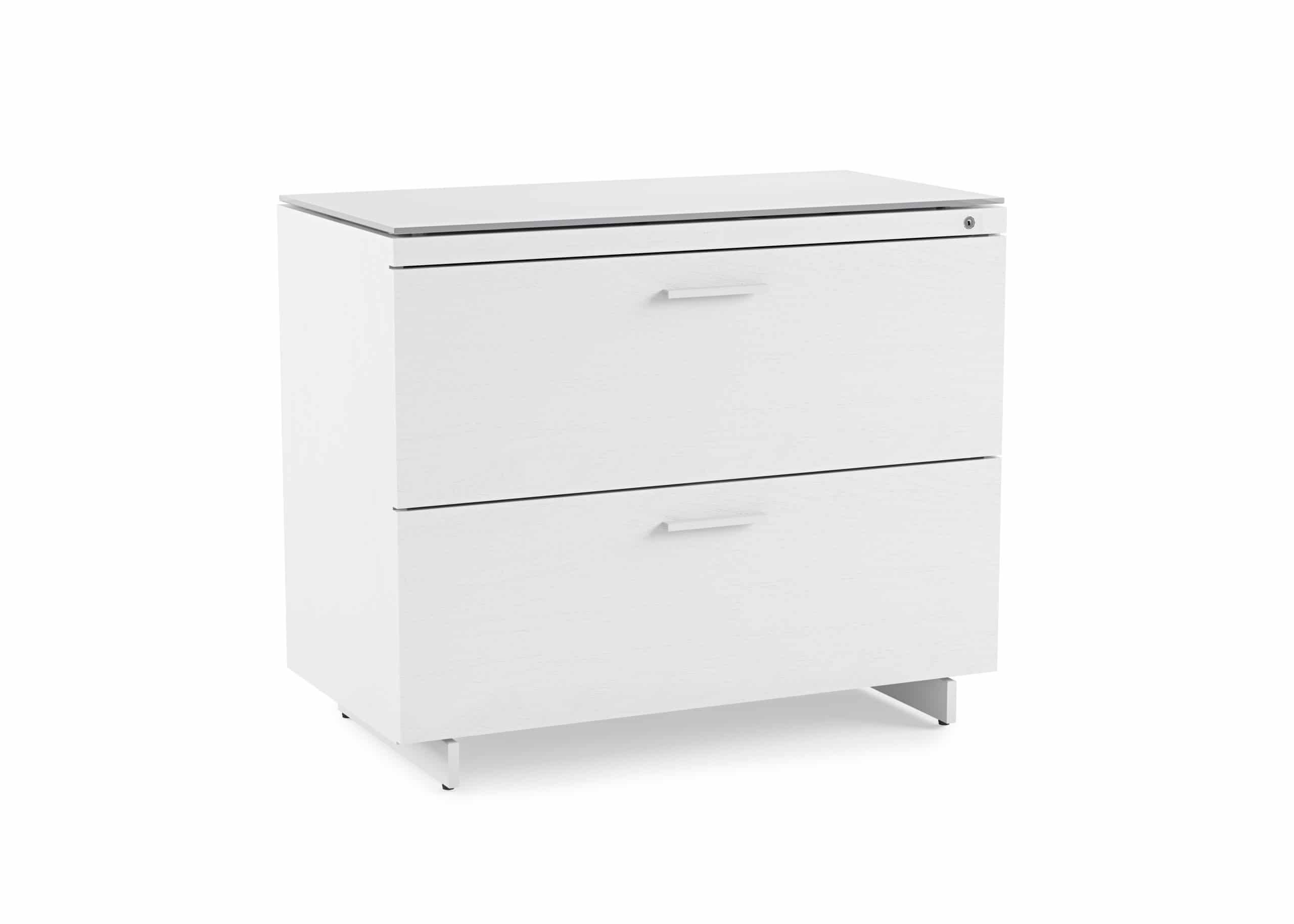 Centro 6416 White Lateral File Storage Cabinet | BDI Furniture