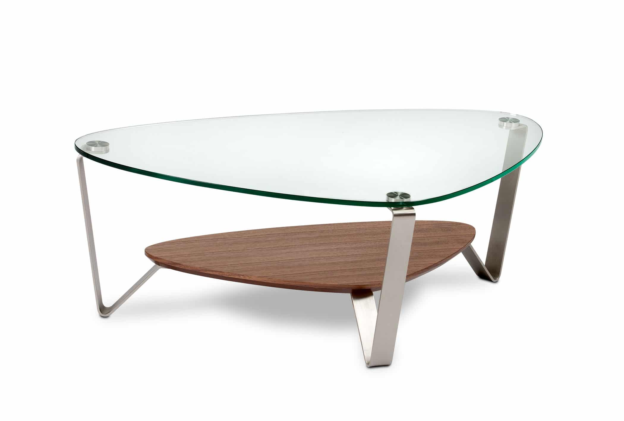 Dino 1344 Small Modern Glass Coffee Table | BDI Furniture