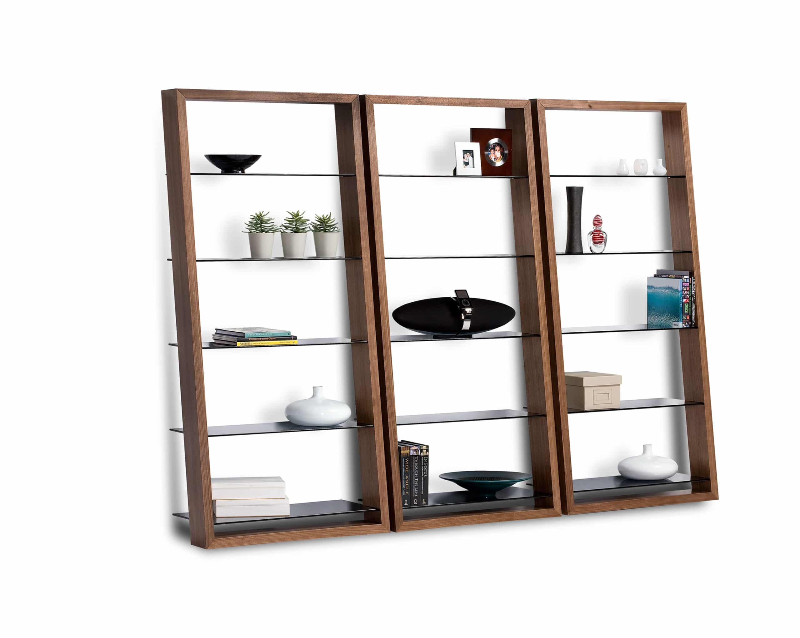 Eileen 5156 Modern Leaning Glass Shelf | BDI Furniture