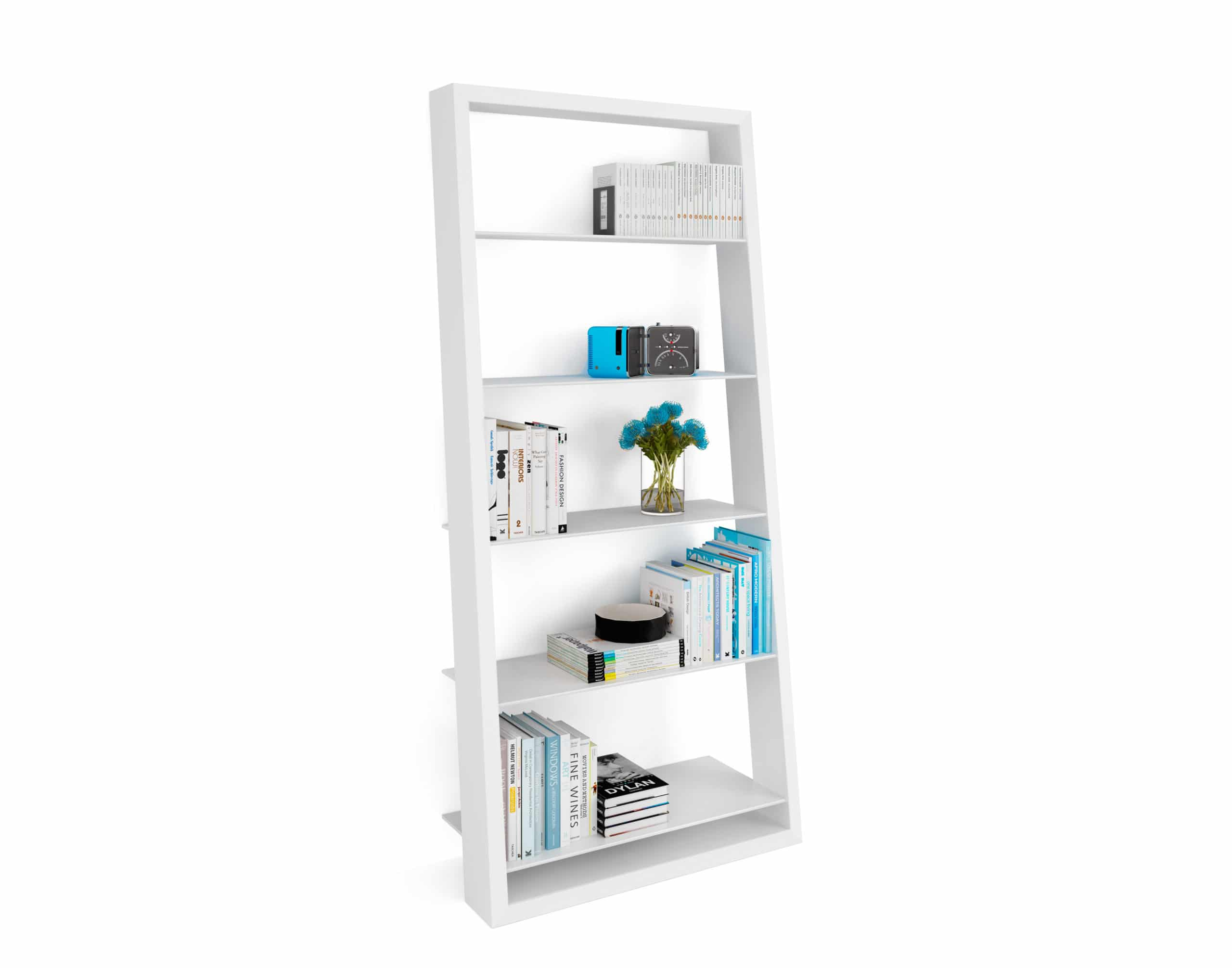 Eileen Blanc 5157 White Leaning Glass Shelf | BDI Furniture