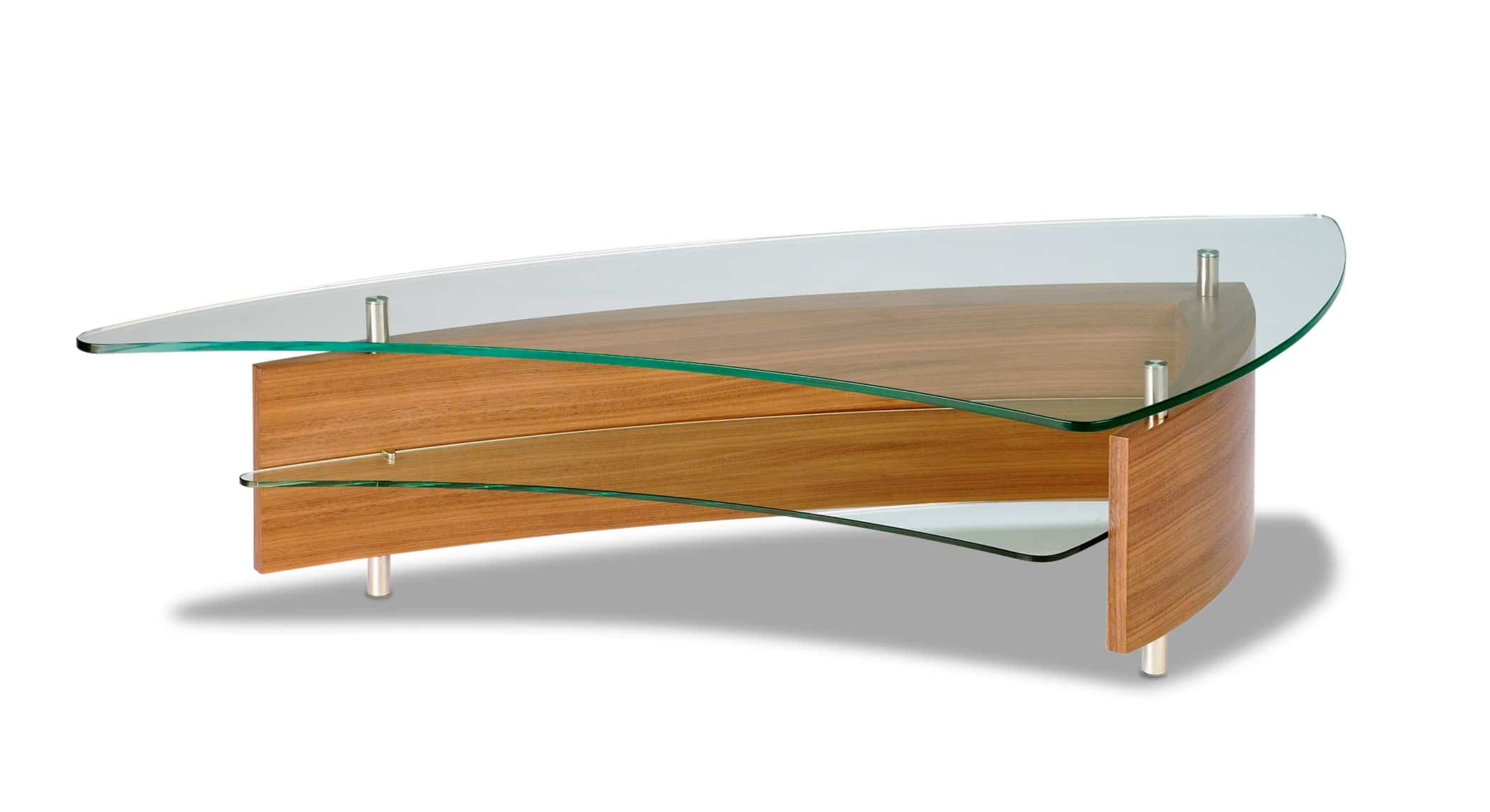 Fin 1106 Modern Glass Coffee Table | BDI Furniture