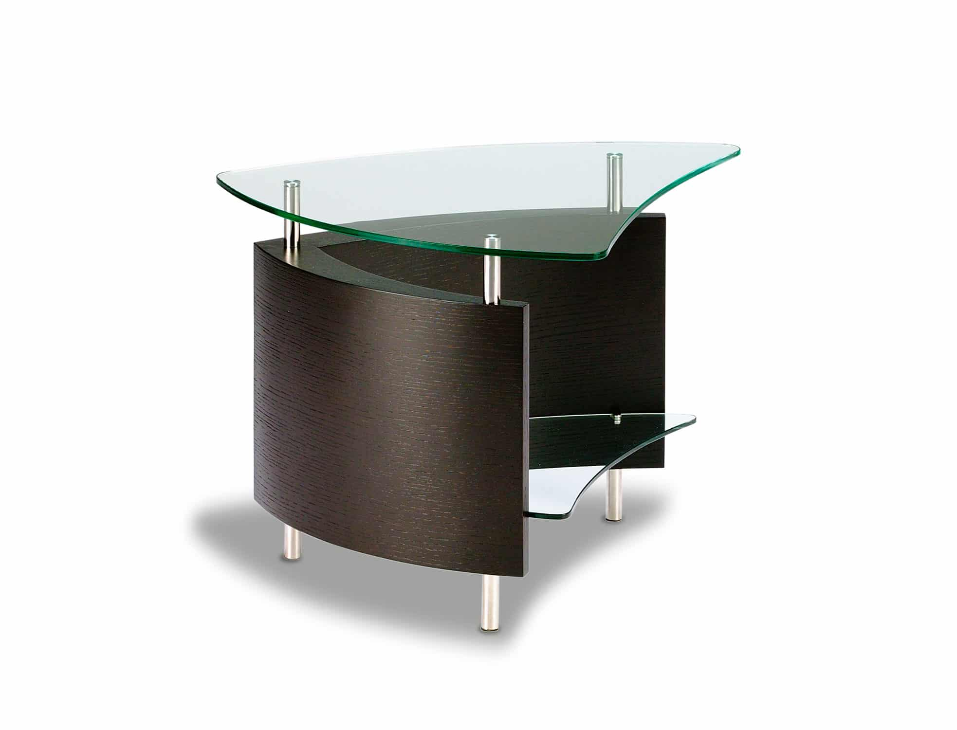 Fin 1110 Modern Glass End Table | BDI Furniture