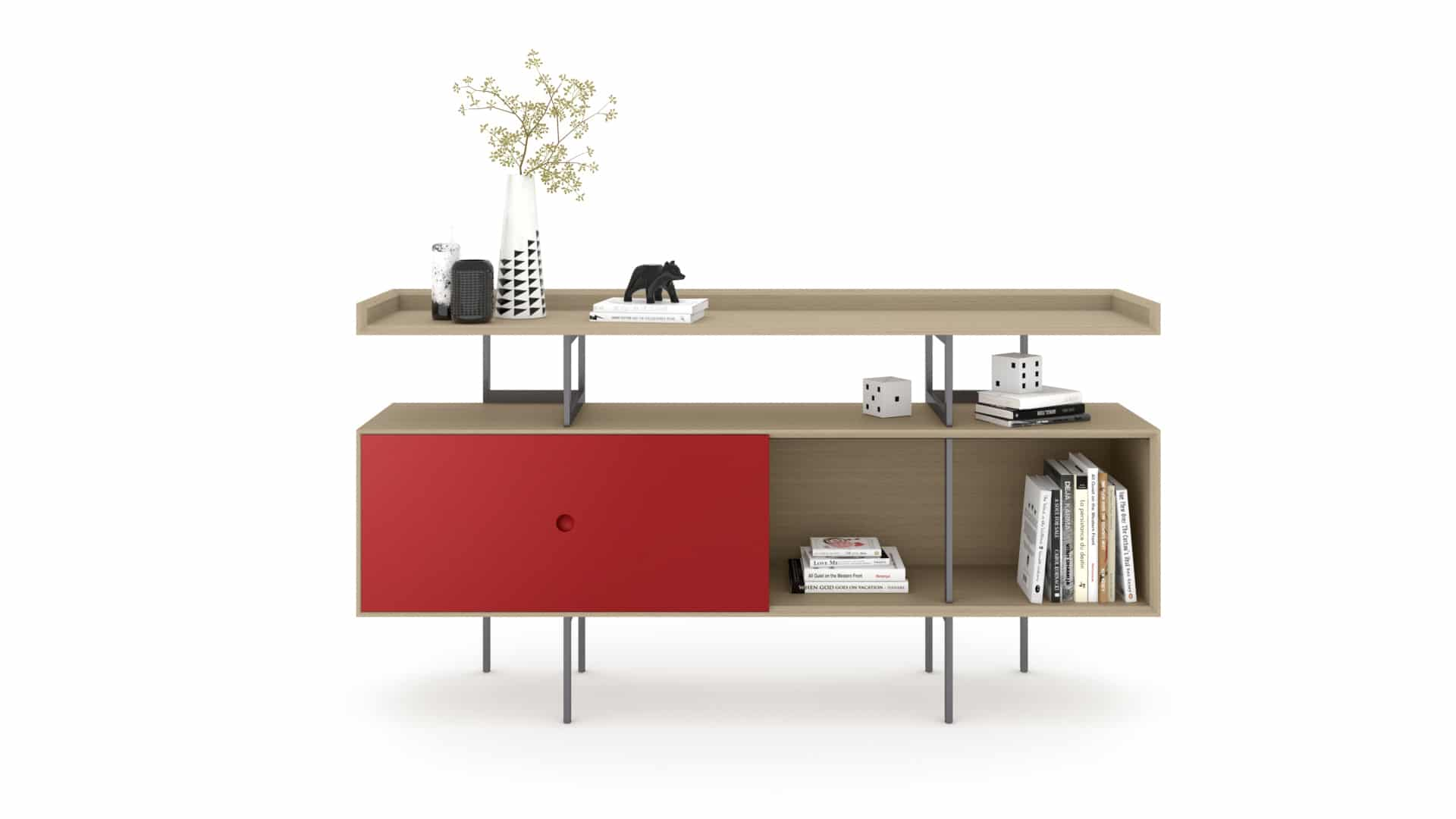 Margo 5211 Hallway Console & Light Media Cabinet | BDI Furniture