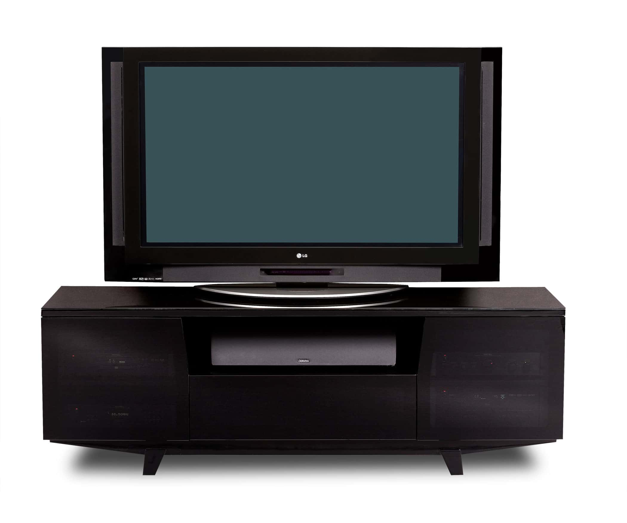 Marina 8729-2 Gloss Black TV Stand & Media Cabinet | BDI Furniture