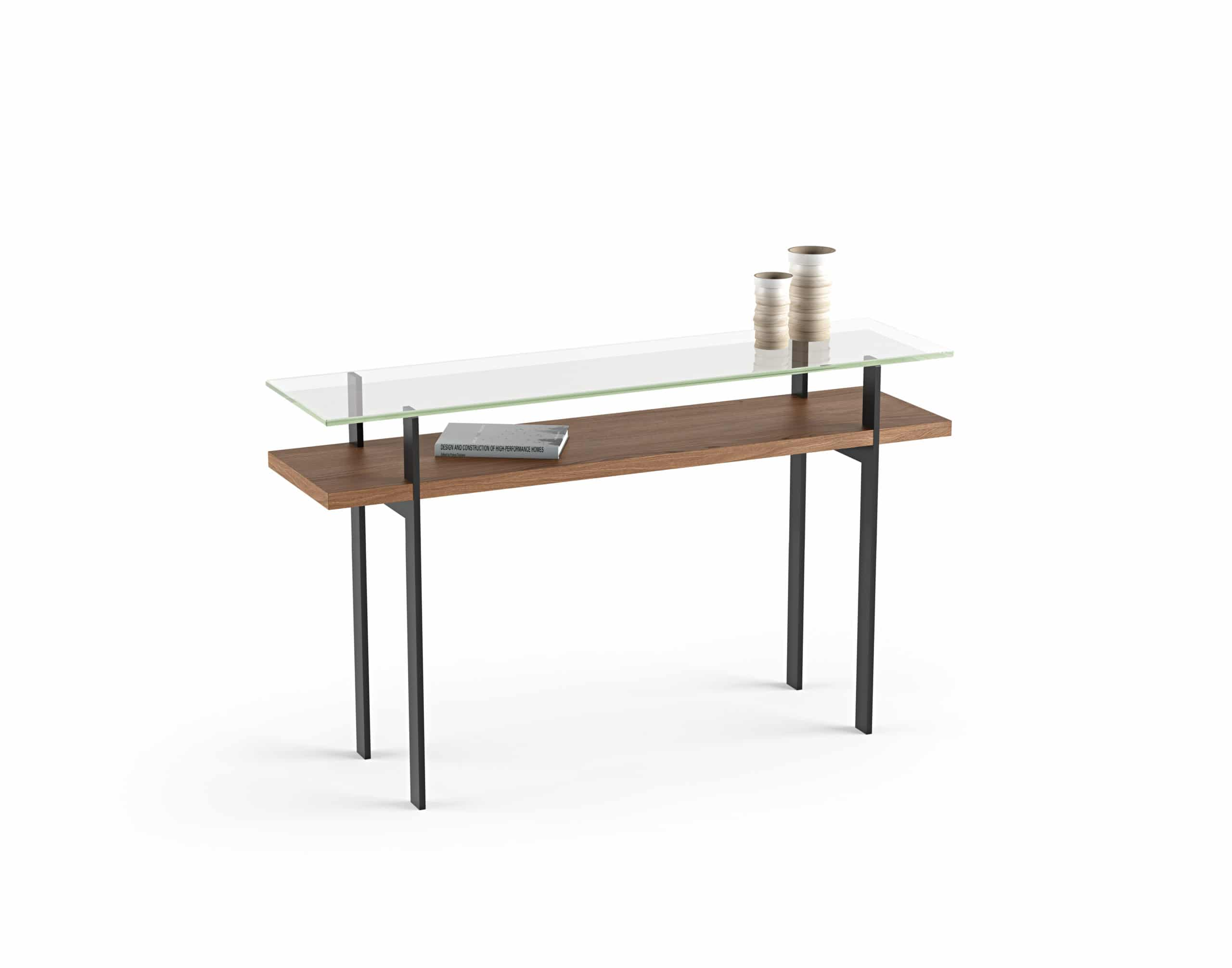 Terrace 1153 Modern Slim Glass Console Table | BDI Furniture