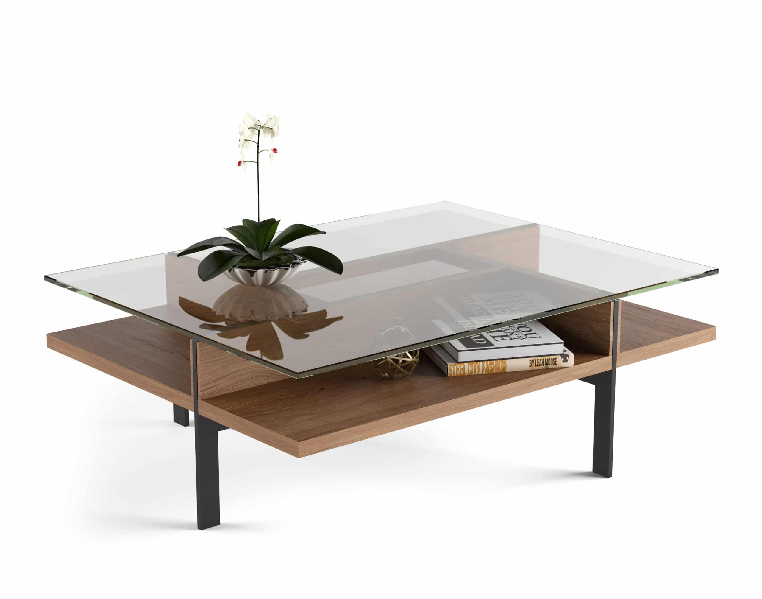 Terrace 1152 Modern Rectangular Glass Coffee Table | BDI Furniture