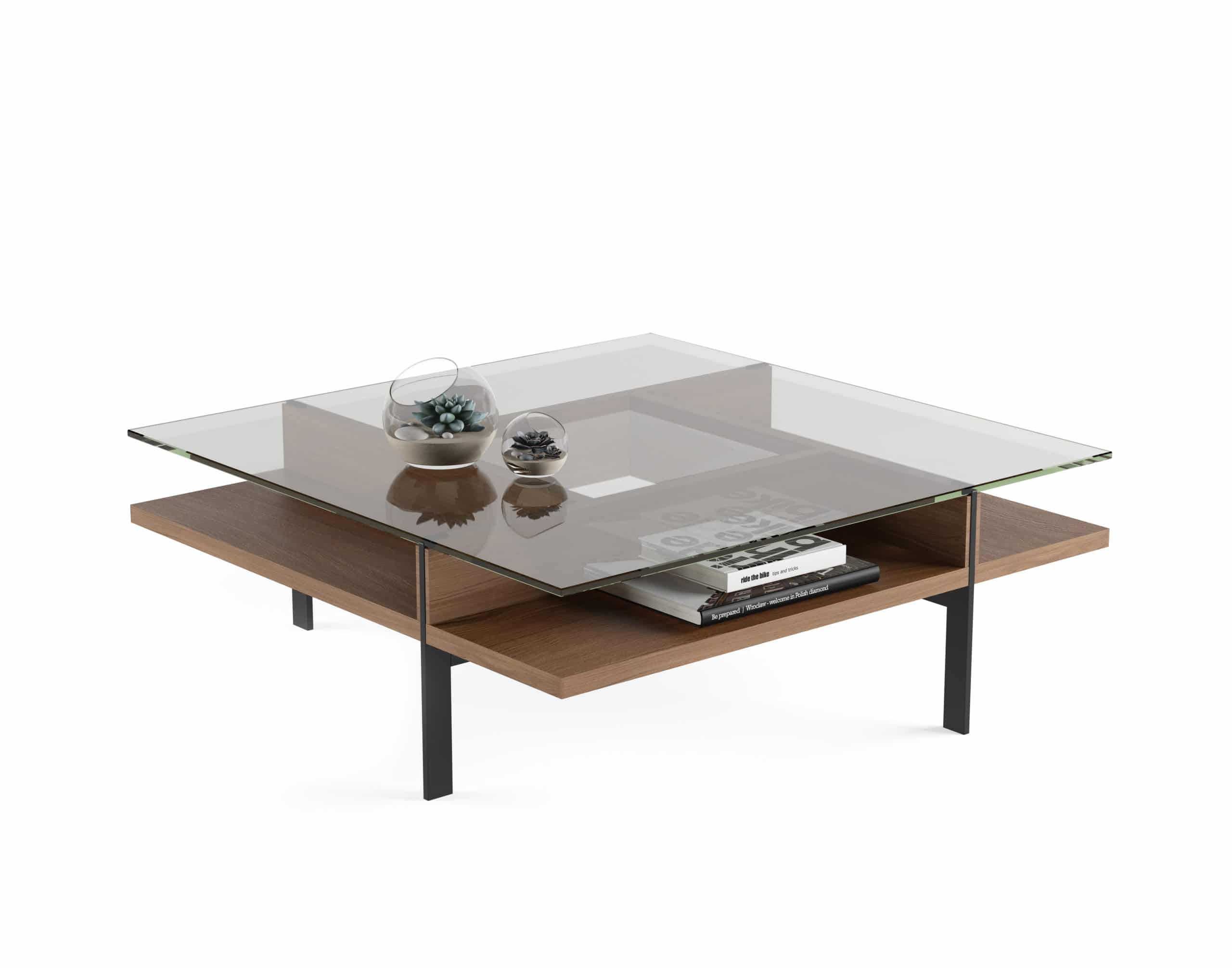 Terrace 1150 Modern Square Glass Coffee Table | BDI Furniture