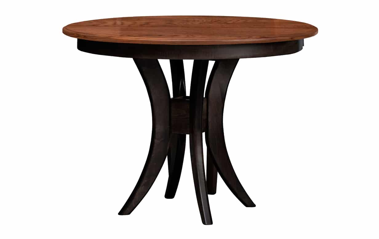 42″ Elm And Brown Maple Table